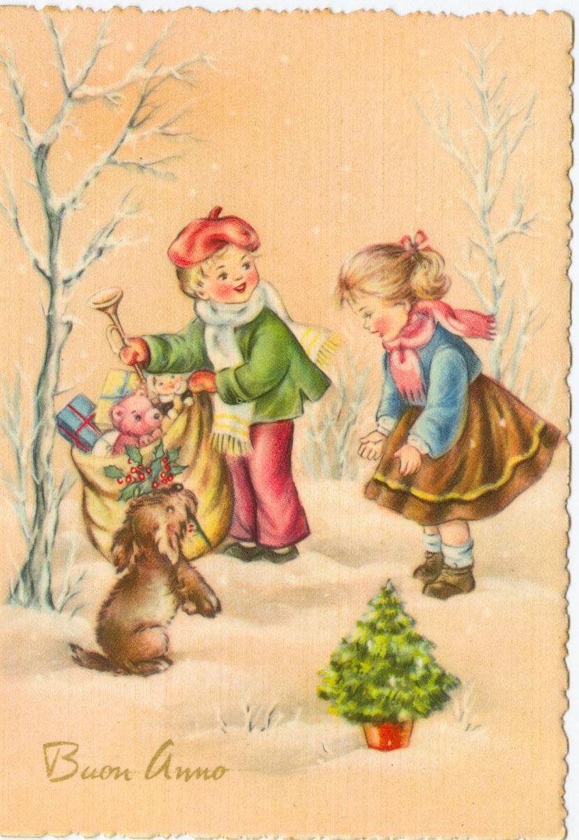 Immagini Natale Anni 60.Cartoline Con Tema Il Natale A Partire Dagli Anni 60